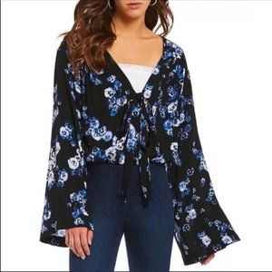 Free People Forties Feels Floral Bodysuit Size S